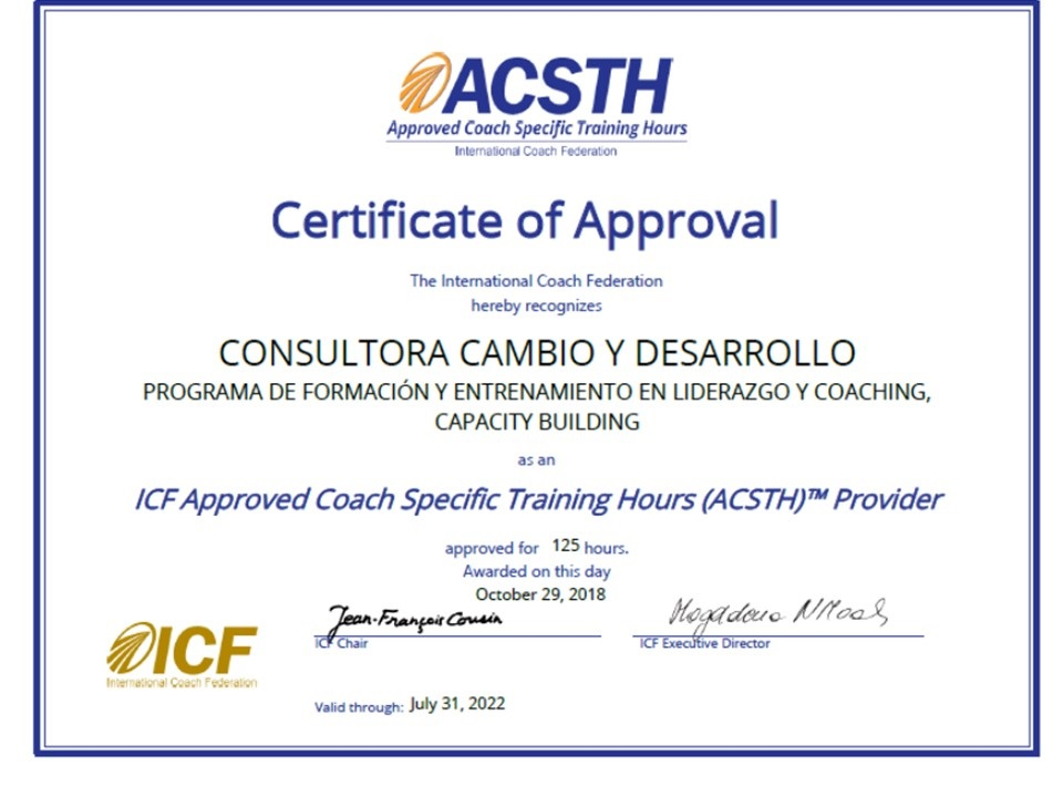 Certificado Coaching Ontologico Carrera Buenos Aires Capital Federal